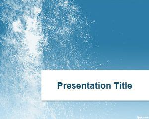 splash water powerpoint template     background template