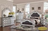 mirrored bedroom furniture 6-pc Pamela Upholstered/Mirrored Queen Bedroom Set PAM-F ...