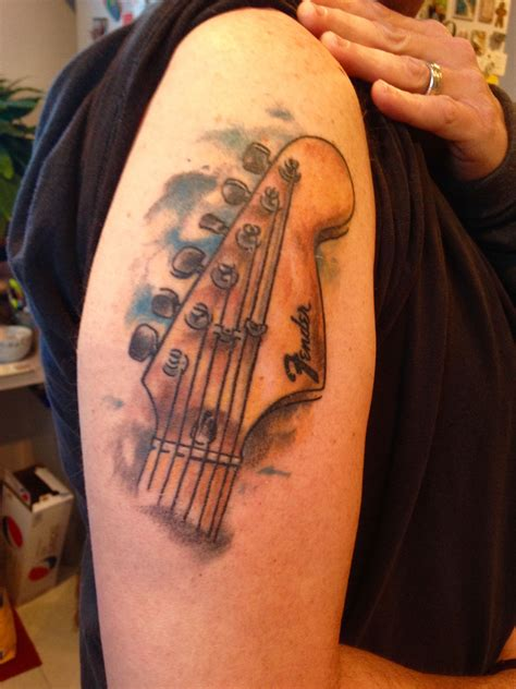 fender stratocaster headstock  tattoos
