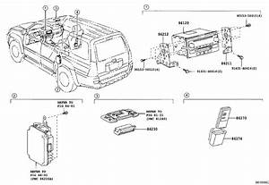 Toyota 4runner Display Assembly  Television  Stone