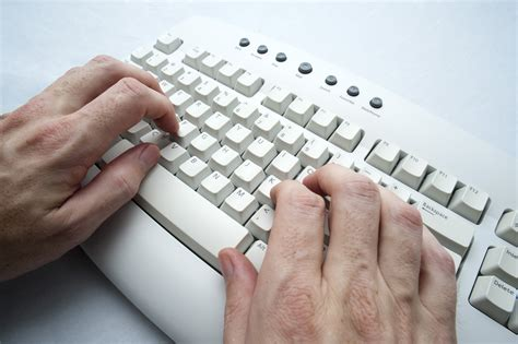 Free Stock Photo 3951-two Hand Typing