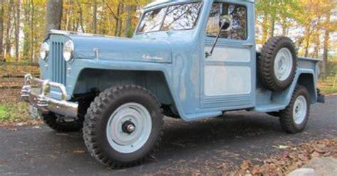 restored powder blue  jeep truck jeeps  trucks