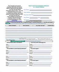 sample estate plan template 6 free documents download With basic estate planning documents