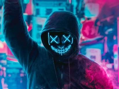 Neon Mask Wallpapers Guy Eye 4k Resolution