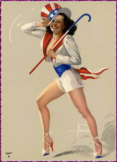 4th July Pinup Ups Happy 1950s Backseat
