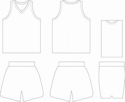 Basketball Template Clipart Jerseys Jersey Blank Uniform