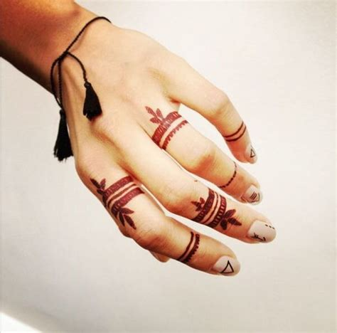 imaganitve finger tattoo designs  boys  girls