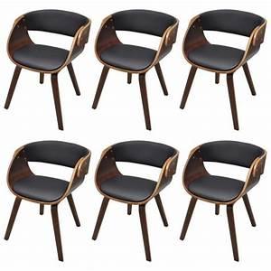 Lot De 6 Chaises Pas Cher : lot de 6 chaises accoudoirs salle manger brun stylashop achat vente chaise salle a manger ~ Teatrodelosmanantiales.com Idées de Décoration