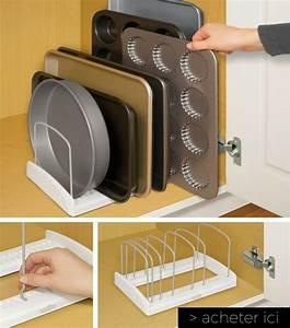 Rangement Placard Cuisine : 23 objets gain de place pour optimiser l 39 espace d 39 une petite cuisine ~ Teatrodelosmanantiales.com Idées de Décoration