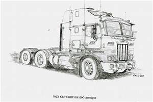 How to draw kenworth trucks