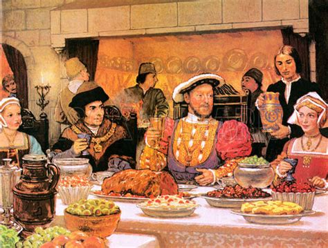 henri cuisine henry viii with sir more on his right look and
