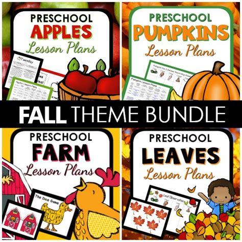 fall lesson plans bundle preschool 101 929 | Fall Theme PT Bundle