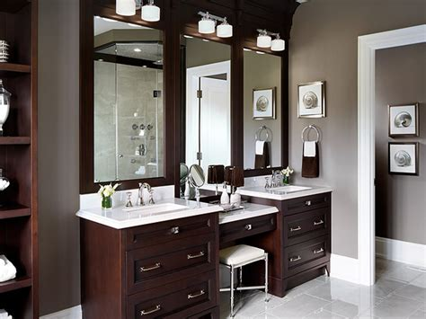 Double Sink Bathroom Vanity With Makeup Area-mugeek