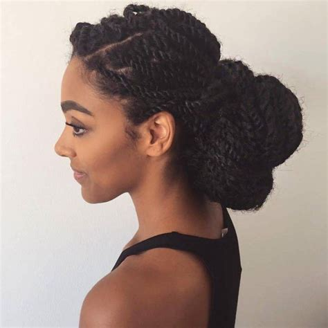 trendy hair bun styles trendy marley twist low bun hairstyles