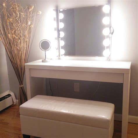 finally put up the mirror and lights for the battlestation makeupaddiction