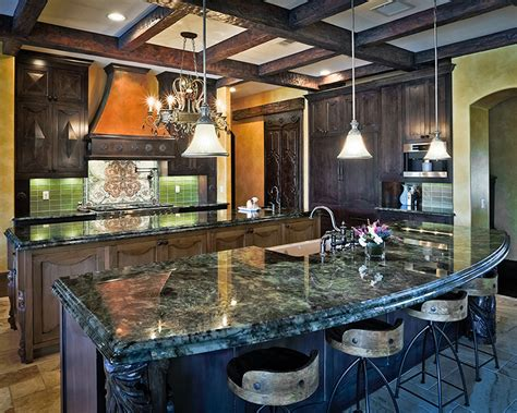 blue granite kitchen designs comparing quartz and granite countertops 4812