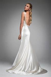 Wedding dresses photos quothannahquot back by sarah janks for Silk wedding dresses low back
