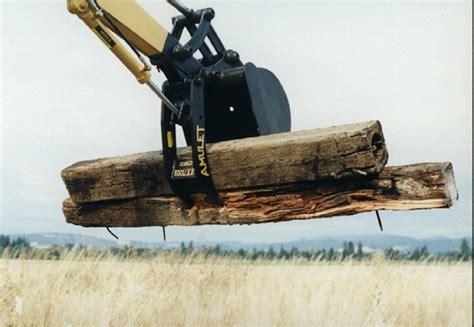 amulet powerbrute hydraulic excavator thumb    ton excavators