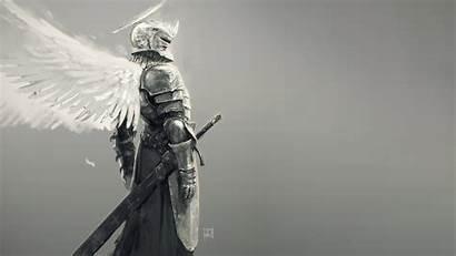 Knight Angel Sword Wings Fantasy Armor Wallpapers