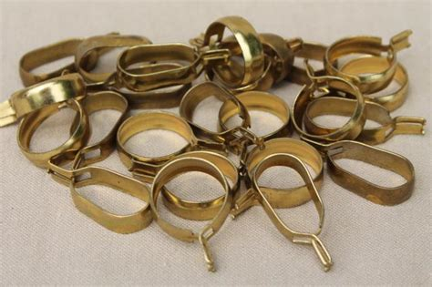 vintage solid brass curtain rings oval curtain