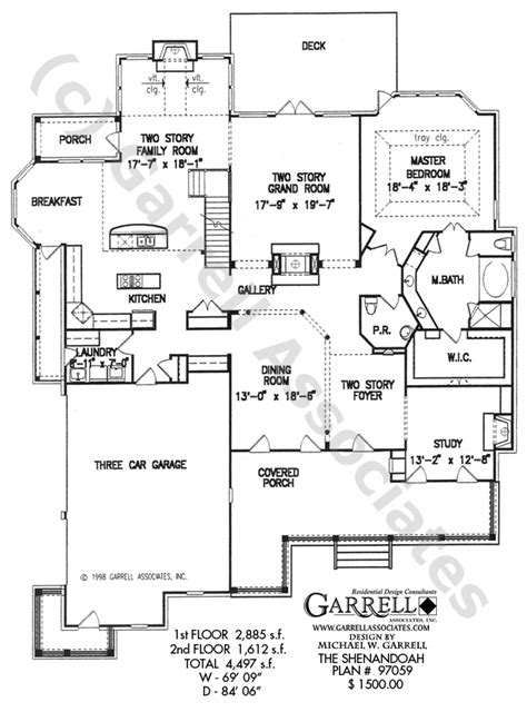 country kitchen floor plans shenandoah house plan house plans by garrell associates 6062