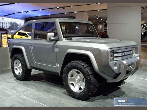 ford bronco concept    put  production