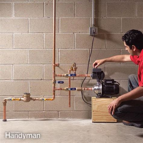 boost  water pressure   house  family handyman