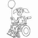 Wheelchair Balloon Coloring Sheet Ramp Template Templates sketch template