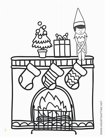 Elf Shelf Coloring Nuts Printable Norris Sheets