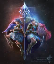 Zodiac Gemini Twins Art