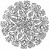 Coloring Complex Pages Therapy Relaxation Printable Flower Rangoli Designs Diwali Drawing Template Drawings sketch template