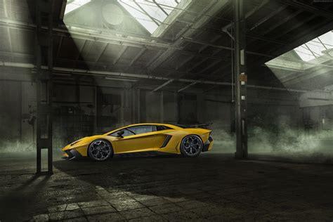 Car Garage Wallpaper by Yellow Luxury Car Inside Black Garage Hd Wallpaper