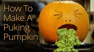 Pumpkin Puking Guacamole by How To Make A Halloween Puking Pumpkin Youtube
