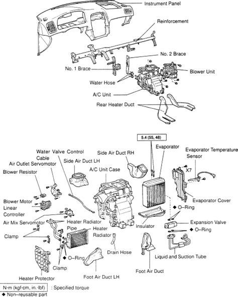 auto air conditioning repair 1994 lexus es instrument cluster repair guides heater core removal installation autozone com