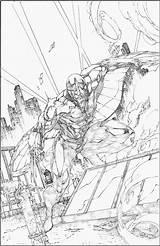 Brett Booth Coloring Sketches Comic Darkhawk Superhero sketch template