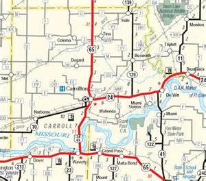 Carroll County Missouri Road Map