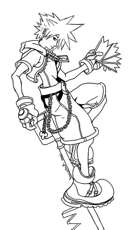kingdom hearts coloring pages    print