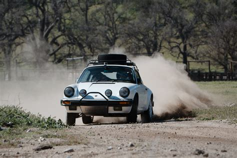patrick longs ultra cool porsche  rally car headed