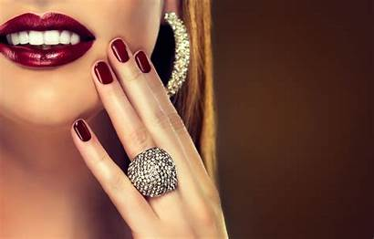 Hand Nail Ring Face Lips Lip Manicure
