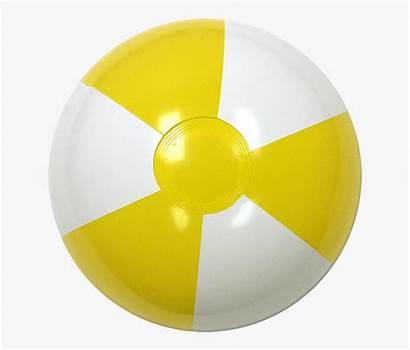 Beach Yellow Ball Balls Cartoon Netclipart