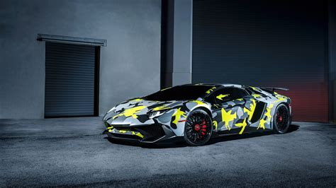 Camo Lamborghini Hd Wallpaper