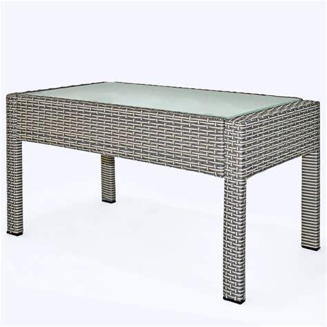 banc resine tressee salon jardin 4 places r 233 sine tress 233 e table basse gris