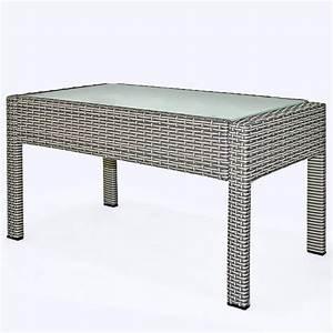 Table Basse Resine Tressee : salon jardin 4 places r sine tress e table basse gris ~ Teatrodelosmanantiales.com Idées de Décoration