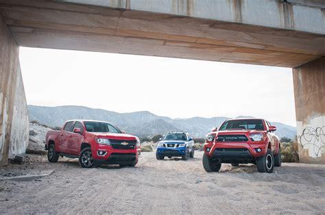 Comparison Chevrolet Colorado Vs Nissan Frontier Vs