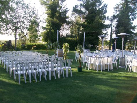 white silk wisteria trees separate the ceremony from the