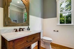 White beadboard for bathroom vanity ideas for Bead board in bathroom