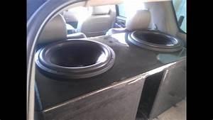 Custom Carbon Fiber Subwoofer Box For Two Re Audio Sx 18s