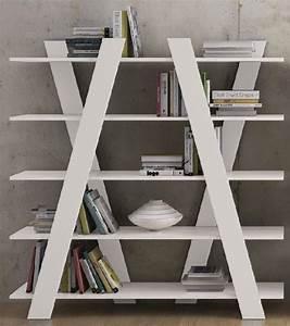 Etagere Blanche Et Bois : temahome wind bibliotheque etagere design blanche mate ~ Teatrodelosmanantiales.com Idées de Décoration