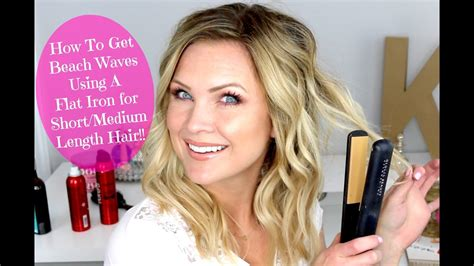 Curling Hairstyles For Medium Hair by Waves Using A Flat Iron For Medium Length Hair