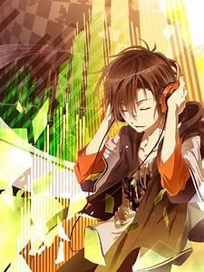 guy listening to music | Anime and Manga | Pinterest